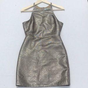 EUC She & Sky Gold Sleeveless Mini Dress